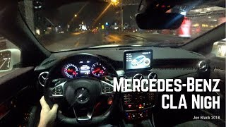 Mercedes-Benz CLA Night 4K , POV TEST DRIVE
