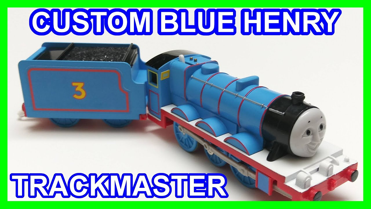 Custom blue Henry Trackmaster Thomas & friends Thomas y sus amigos 托馬斯和朋友 Томас и друзья きかんしゃトーマス