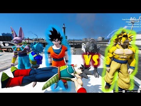 GTA 5 - Cha của Goku hồi sinh - Goku bạc đấu Saiyan Vàng | GHTG