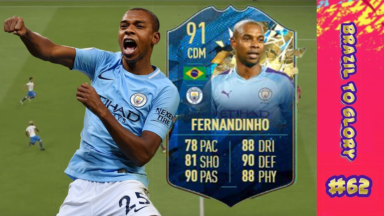 TOTSSF FERNANDINHO PUNCHES THROUGH FOR US! F THE WL!#62 FIFA 20 ULTIMATE  TEAM RTG - BRAZIL TO GLORY - YouTube