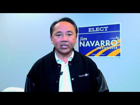 Chris Pacis of Union City Tennis Club supports Jim Navarro for Mayor