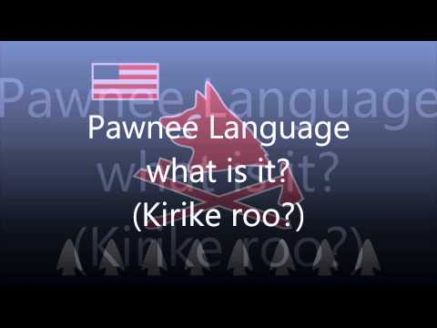 Pawnee Language (Tom E Knife Chief) - What is it?