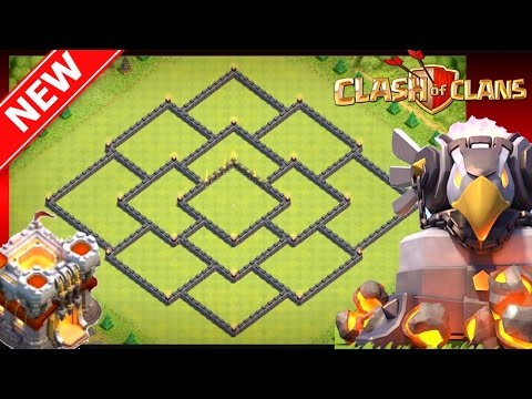 Clash Of Clans | New EPIC (Th11) Town Hall 11 Hybrid Trophy Base [2017] - Anti-Gowiwi, Central EA