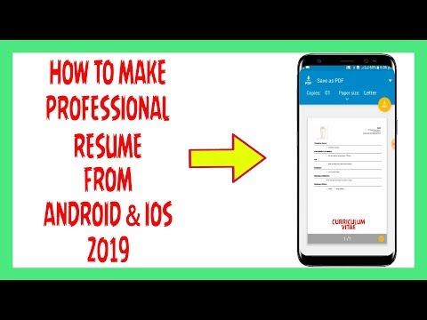 How To Make Professional Resume From Android Or iOS 2019