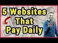 5 Websites That Will Pay You Daily In 2019 (Easy Home Based Jobs)