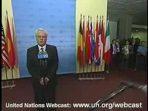 Vitaly Churkin at UN on the sitiation around Russia, Georgia