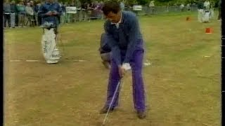 Seve Ballesteros,3rd round Dunhill British Masters.Woburn.1991.