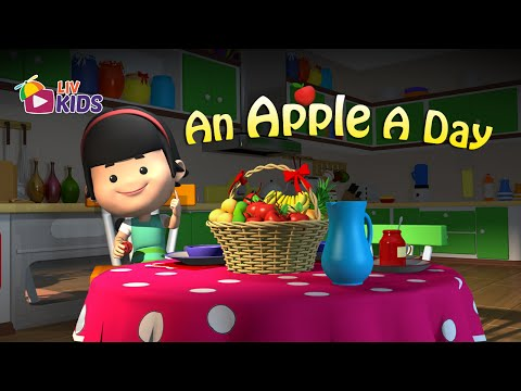 An Apple A Day Keeps The Doctor Away with Lyrics | LIV Kids Nursery Rhymes and Songs | HD