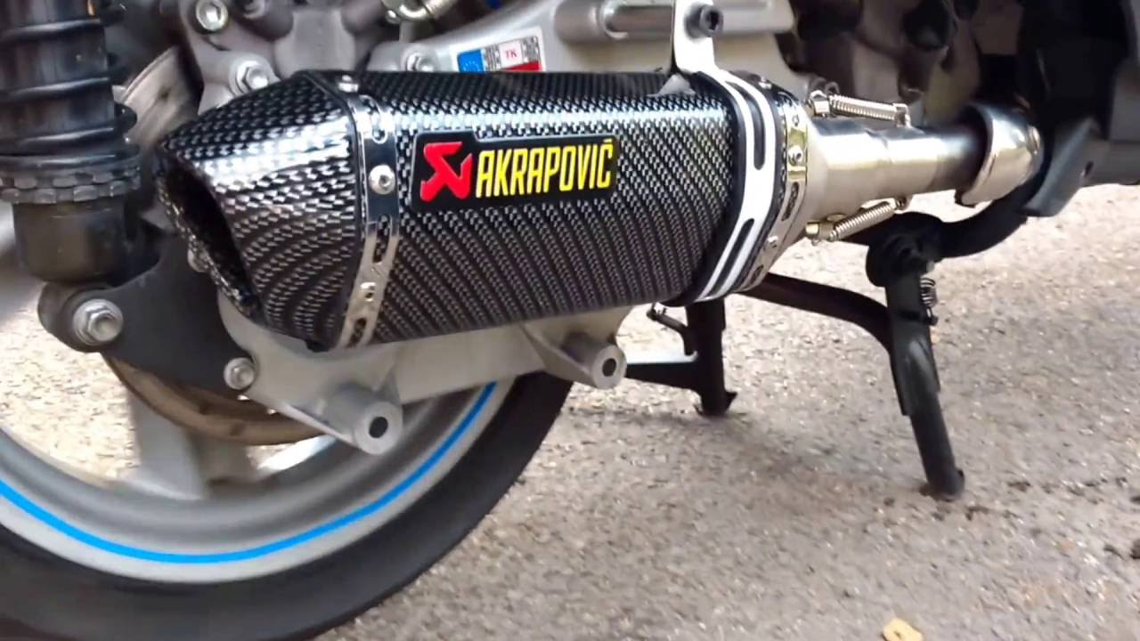 My scooter Aprilia Atlantic 500 exhaust without DB killer