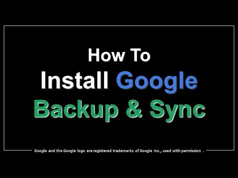 How to Install Google Backup and Sync App