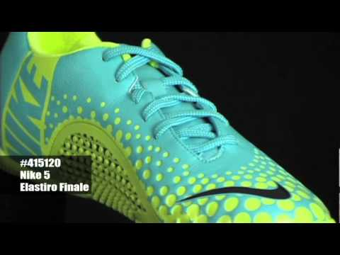 save off 8e202 ce6c7 Nike5 Elastico Finale - Baltic Blue Blueprint Hot Lime Indoor Soccer Shoes  - YouTube