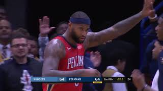 DeMarcus Cousins Goes Off for 40 Points and 22 Rebounds in Pelicans Win over Nuggets