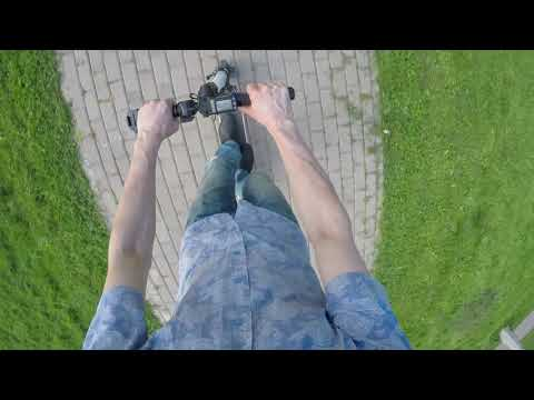 Копия Jack Hot - электросамокат Carbon Fiber. Тест-драйв на улице.