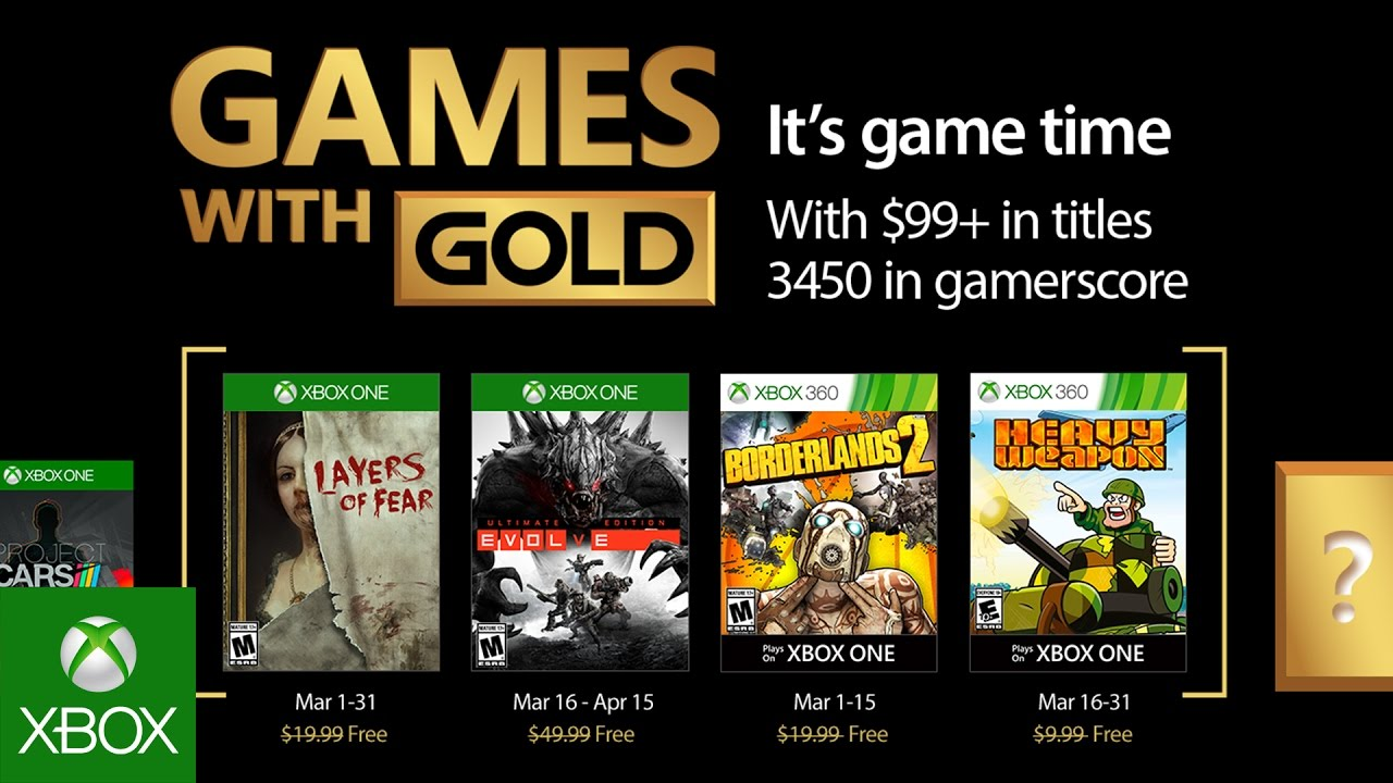 Xbox March 2017 Games With Gold Youtube