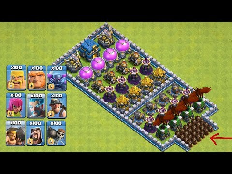 Who Can Survive This Difficult Trap On COC? COC All Troops! Trap VS Troops #coco10  Chip GamePlays