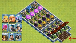 Who Can Survive This Difficult Trap On COC? COC All Troops! Trap VS Troops #coco10 |Chip GamePlays