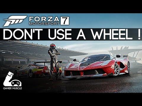 FORZA 7 - A FUN ARCADE GAME  ? - DON'T USE A WHEEL !
