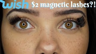 TRYING $2 MAGNETIC LASHES FROM WISH! (fail..obviously)