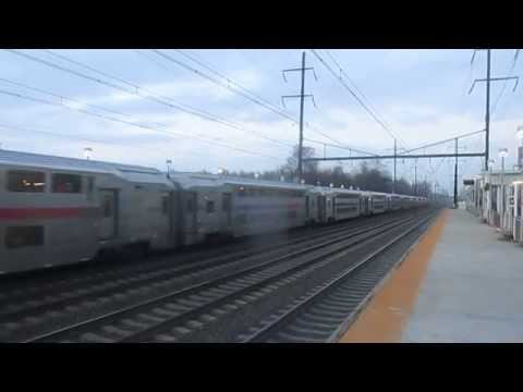 Amtrak & NJ Transit Northeast Corridor Trains at Hamilton Station On April 20th, 2015