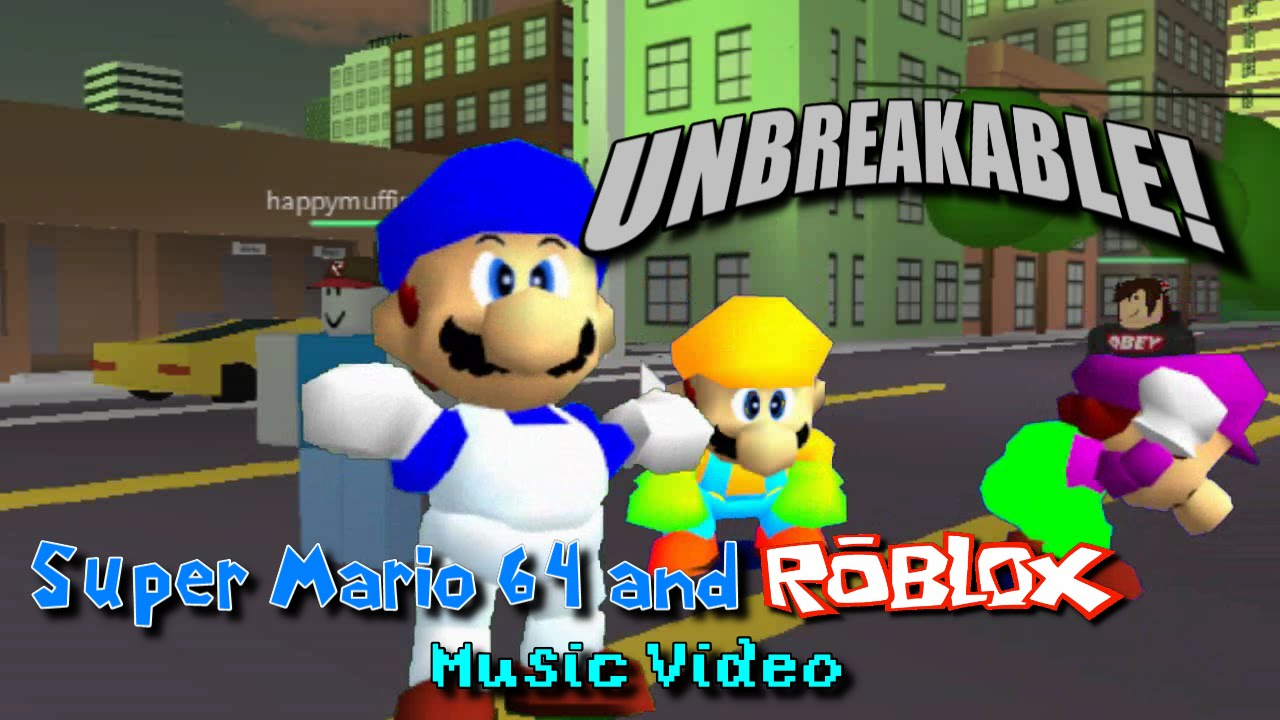 Mario Song Id For Roblox Yt Super Mario 64 And Roblox Music Video Unbreakable Schmoyoho Sm64ified Youtube