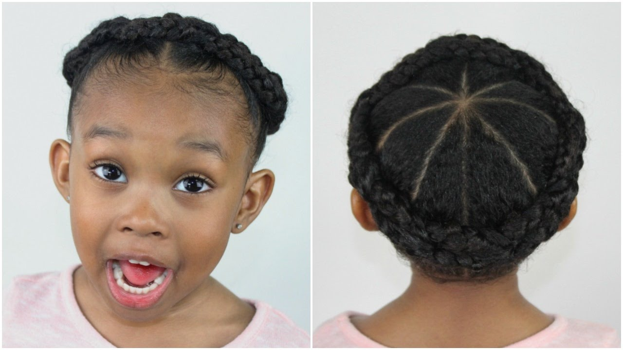 Crown Braid | Hairstyles for Little Girls - YouTube