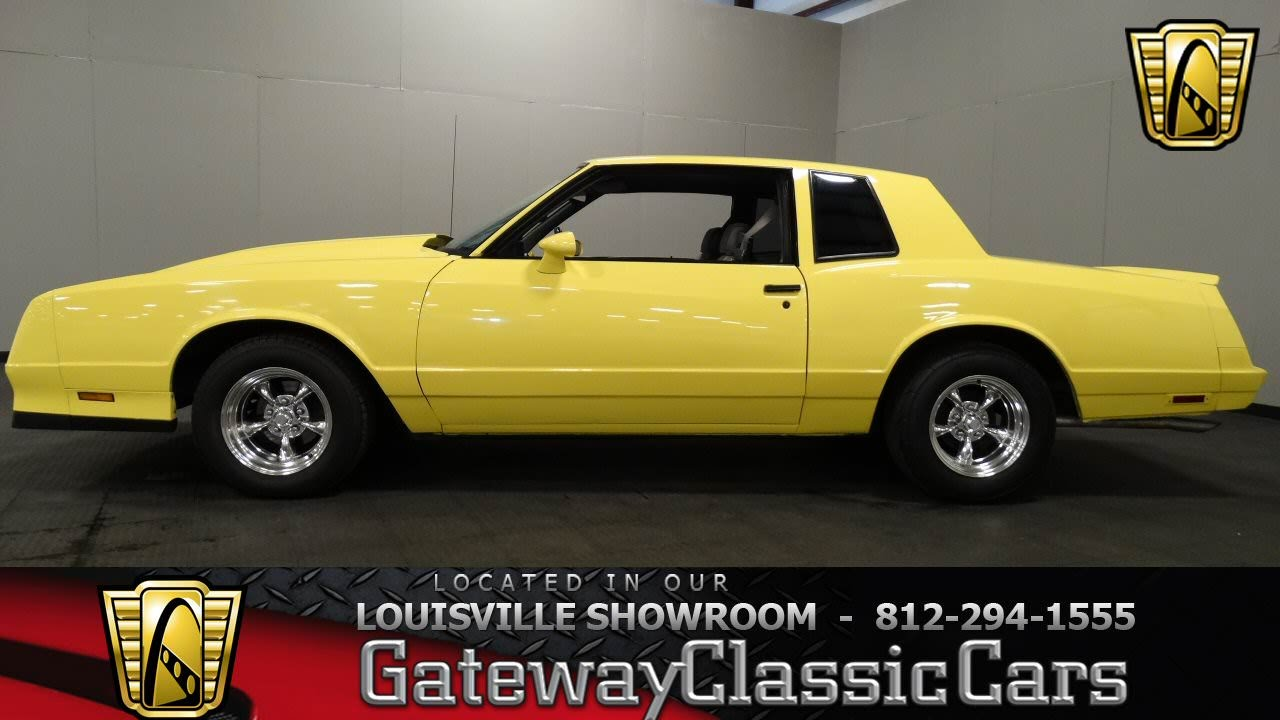 All Chevy 1985 chevy monte carlo ss for sale : 1985 Chevrolet SS Monte Carlo - Louisville Showroom - Stock #1026 ...