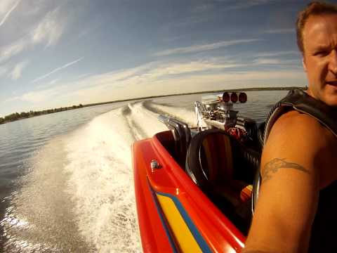 Sam and Dave out running the TOI drag boat in Colorado
