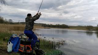 Фидерная рыбалка в деревне Комсомолец Ловля на фидер в мае на озере Май труд май