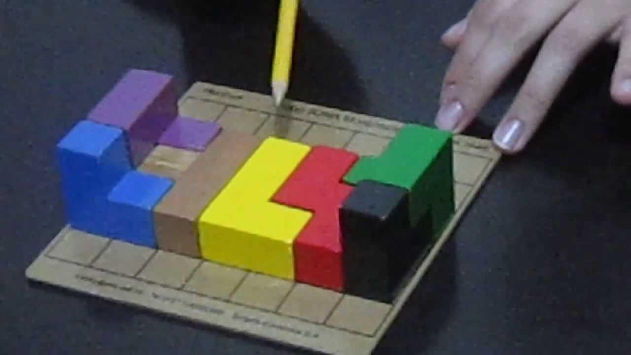 Figuras con el cubo soma youtube - Cubos de madera ...