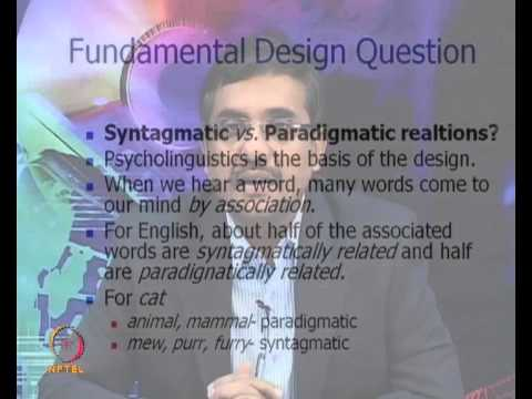 Mod-01 Lec-29 Wordnet and Word Sense Disambiguation