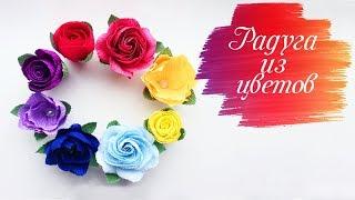 4 простых способа сделать цветы из гофрированной бумаги
