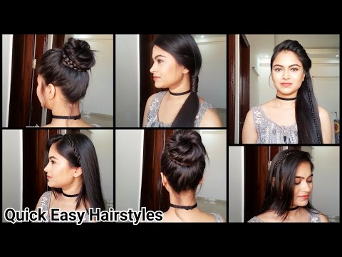 Everyday Quick Easy Hairstyles/ hairstyles for medium/long hair for school