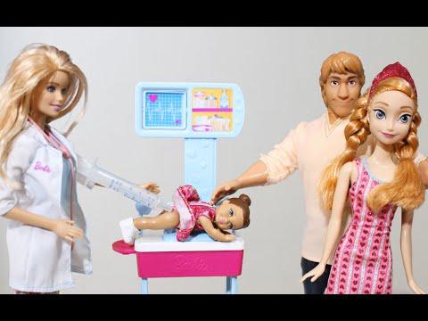 Frozen Anna e Kristoff Levam Sophia Tomar Vacina...