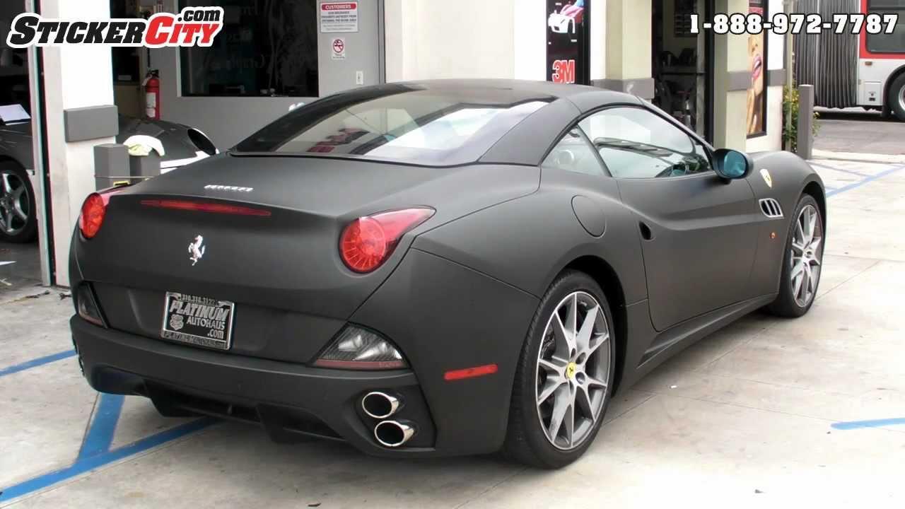 Matte Black Ferrari California Wrap By Stickercity Com