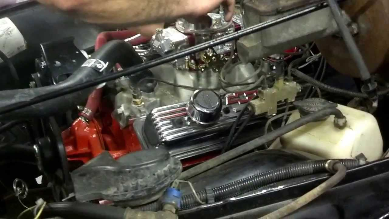 1972 Nova 406 SBC burnout and rev limiter  YouTube