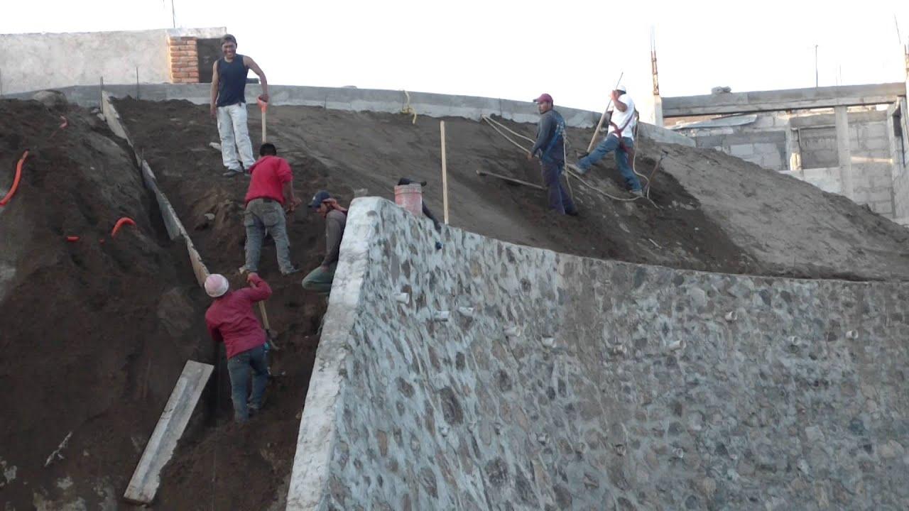 Conformaci n de talud para recubrimiento de concreto 521 - Recubrimiento de piedra ...