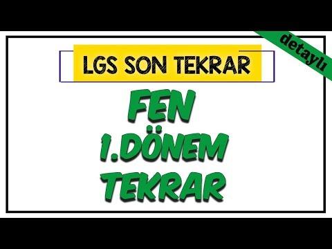 Fen Bilimleri 1.Dönem Tekrar (Detaylı) | LGS Son Tekrar Programı