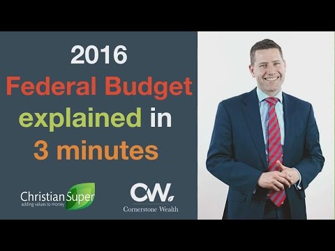 2016 Federal Budget explained in 3 minutes