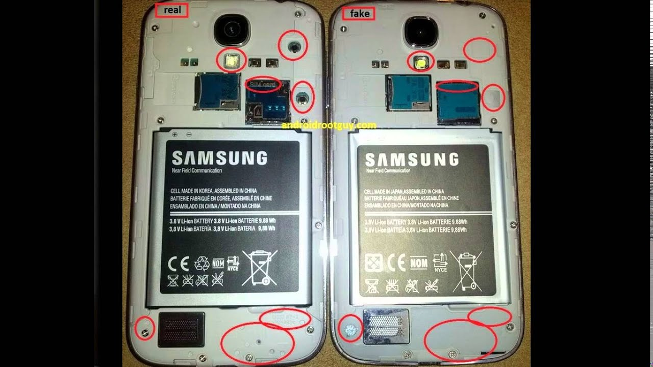 17cd3329c Samsung Galaxy S4 Fake vs Original (Real ) vs Replica (Clone) | GUIDE by  Androidtechmac!