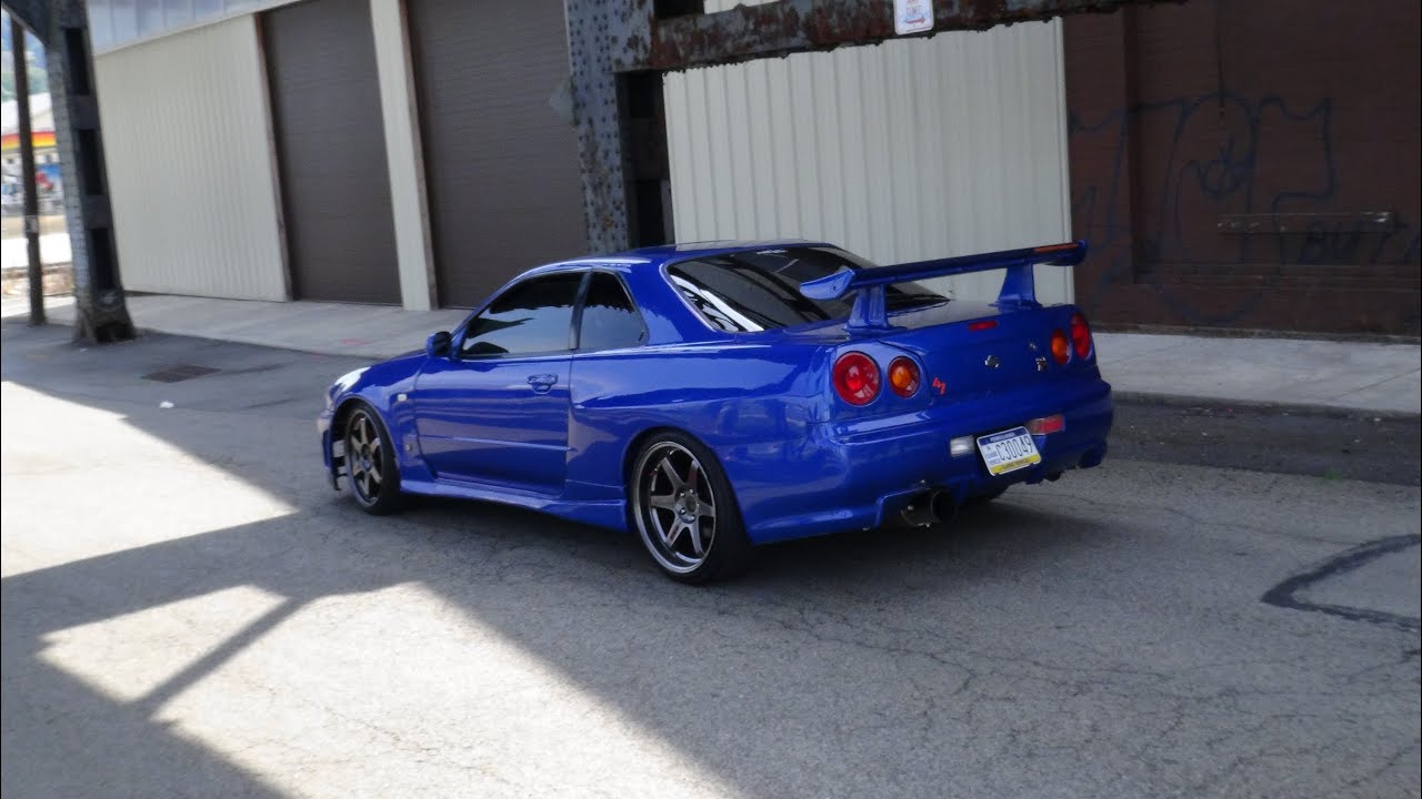 nissan skyline r34 accelerations in car new camera test youtube. Black Bedroom Furniture Sets. Home Design Ideas