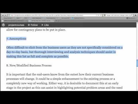 Business Requirements Document - YouTube