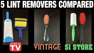 5 Lint Removers Compared: As Seen on TV vs $1 Store vs Vintage