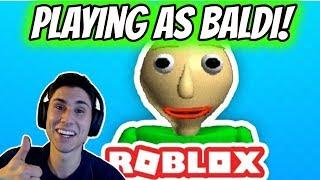 JOGANDO COMO BALDI! | The Schoolhouse Roblox Baldi ' s Basics jogo | Roblox: The Schoolhouse