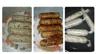 Chicken sausage in Indian style or frozen chicken kabab