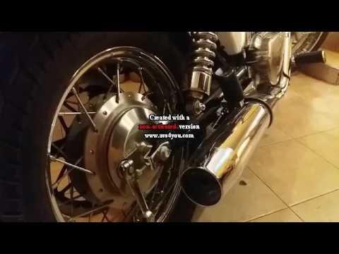 suzuki s40 (savage) stock exhaust vs csone exhaust - youtube