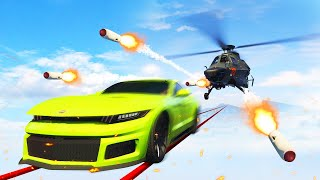 TIGHTROPE CARS vs. ATTACK HELICOPTERS! (GTA 5 Funny Moments)
