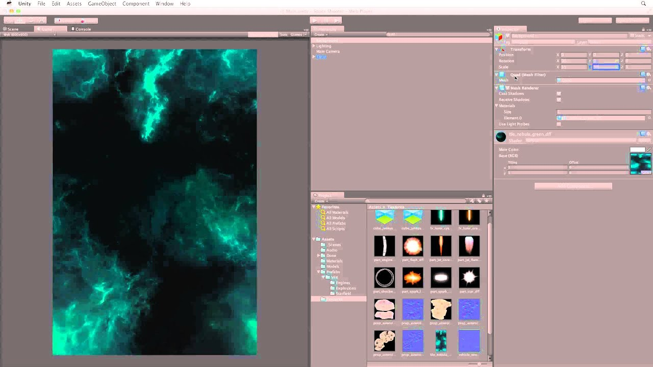 Adding a background - 04 - Space Shooter - Unity Official Tutorials