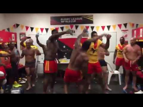 PNG Kumuls celebrates after beating Wales 50 - 6 | 2017 RLWC