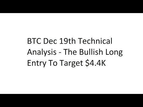 BTC Dec 19th Technical Analysis - The Bullish Long Entry To Target $4.4K