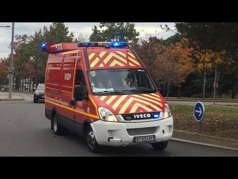 Départ AVP VSAV+VIDP+VTP Pompiers Lyon 5 CIE